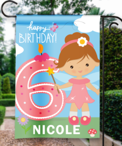 SGF-00054 6TH SIXTH BIRTHDAY Custom Personalized Birthday Banner Flag Decor by Personalize it FREE