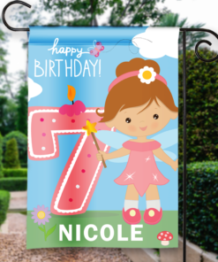 SGF-00054 7TH SEVENTH BIRTHDAY Custom Personalized Birthday Banner Flag Decor by Personalize it FREE