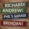 W2W-DSS-00001 Distressed Metal Street Sign Personalized Sign for Bar Man Cave Game Room by Personalize it FREE