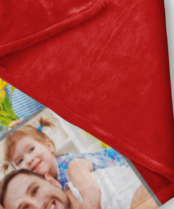 PIF-TB00002 Personalized Custom Family Photo Collage Fleece Throw Blanket by Personalize it FREE