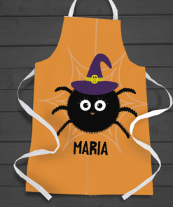 PIF-AAPR00001 Halloween Theme Witch Spider Personalized Apron by Personalize it FREE