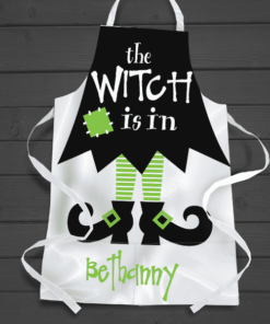 PIF-AAPR00003 The Witch is In Personalized Apron by Personalize it FREE