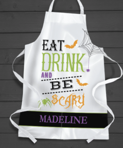 PIF-AAPR00004 Eat Drink and Be Scary Personalized Apron by Personalize it FREE