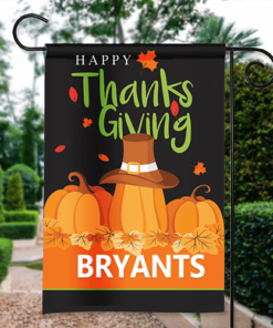 SGF-00570 Thanksgiving Garden Flag Happy Thanksgiving Pumpkin Patch Personalized House Banner Custom Personalized Banner Garden House Flag Decor by Personalize it FREE