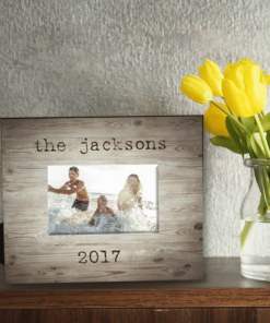 PIF-PF00008 Weathered Wood Family Memories Beach Theme Custom Personalized 8x10 Picture Photo Frame by Personalize it FREE