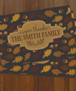 PIF-PMAT00002- Give Thanks Family Monogram Place Mats by Personalize it FREE