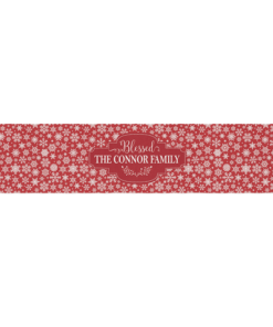 PIF-TR00015 Red & White Snowflake Pattern Christmas Custom Personalized Holiday Table Runner Table Accent by Personalize it FREE