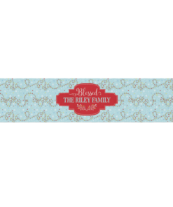 PIF-TR00025 Merry & Bright Garland Christmas Custom Personalized Holiday Table Runner Table Accent by Personalize it FREE