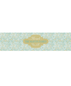 PIF-TR00026 Mod Geometric Christmas Custom Personalized Holiday Table Runner Table Accent by Personalize it FREE