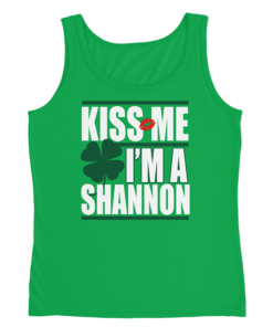 PIF-LADTNK00001 Sexy Ladies St. Paddy's Day Kiss Me I'm Irish Tank Top Shirt Custom Personalized T-Shirt by Personalize it FREE