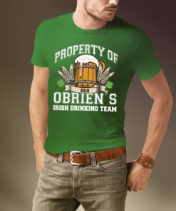 PIF-MENST00003 Men's St. Paddy's Day Irish Drinking Team Custom Personalized T-Shirt by Personalize it FREE