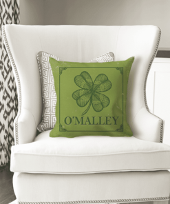 PIF-TP-10020 Custom Personalized Irish Family Name Monogram Throw Accent Pillow Decor by Personalize it FREE