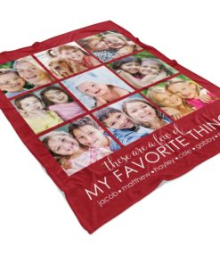 PIF-TB00005 These are a Few of My Favorite Things Custom Photo Collage Blanket Keepsake Mothers Day Birthday Holiday Gift Personalized Fleece Throw Blanket by Personalize it FREE
