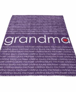 PIF-TB00007 Heart Family Word Art Monogram Mothers Day Birthday Gift Personalized Fleece Throw Blanket by Personalize it FREE