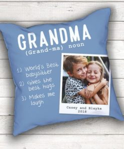 PIF-TP-10027 The Meaning of Grandma Keepsake Photo Throw Pillow Accent Pillow Decor by Personalize it FREE