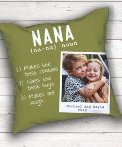 PIF-TP-10028 The Meaning of Grandma Keepsake Photo Throw Pillow Accent Pillow Decor by Personalize it FREE