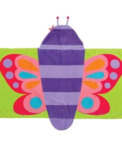 PIFWST224 Butterfly Hooded Towel by Personalize it FREE