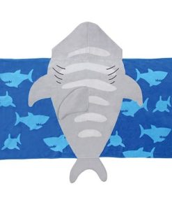 PIFWST225 Kids Shark Hooded Towel by Personalize it FREE