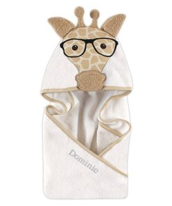PIFWST263 Giraffe Hooded Towel by Personalize it FREE