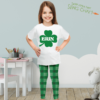 PK-KLS00007 Personalized Girls Leggings Set Green Shamrock St. Patrick's Day Sisters Siblings Twins Outfit Costume by Personalize it FREE