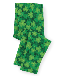 PK-KLS00008 Personalized Girls Leggings Set Green Shamrock St. Patrick's Day Sisters Siblings Twins Outfit Costume by Personalize it FREE