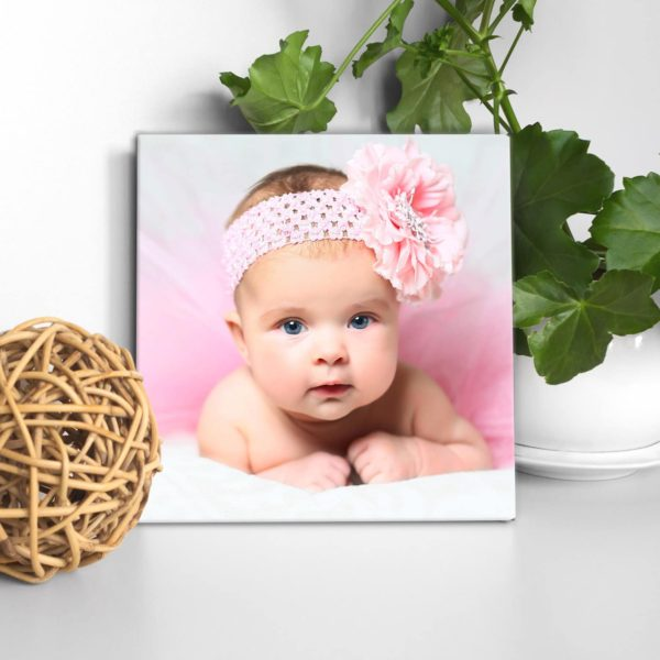 CAN00007-BabyPhoto Our Sweet Baby Personalized Photo Keepsake Canvas Wall Art Baby Shower New Baby Christening Gift Idea by Personalize it FREE