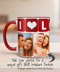 PIF-CM00004-LOVE I LOVE U Personalized Ceramic Photo Coffee Mug Valentines Day Holiday Anniversary Gift Idea