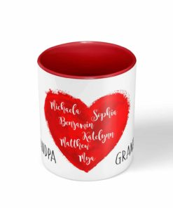 PIF-CM00010-HEARTISFULL My Heart is Full Personalized Ceramic Coffee Mug Valentines Day Holiday Anniversary Wine Lover Gift Idea