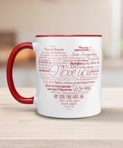 PIF-CM00011-LOVELANGUAGES LOVE in Every Language Personalized Ceramic Coffee Mug Valentines Day Holiday Anniversary Wine Lover Gift Idea by Personalize it FREE