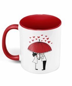 PIF-CM00012-RAININGLOVE Raining LOVE Personalized Ceramic Coffee Mug Valentines Day Holiday Anniversary Wine Lover Gift Idea by Personalize it FREE