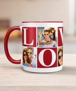 PIF-CM00018-LOVEPHOTO LOVE Personalized Ceramic Photo Coffee Mug Valentines Day Holiday Anniversary Gift Idea