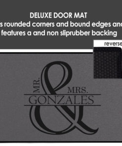 PIF-OFM00059-Monogram Mr. & Mrs. Monogram Personalized Welcome Door Mat Couples Wedding Housewarming Gift Idea by Personalize it FREE