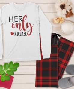 PIF-PJSET00001-OneAndOnly His and Hers One and Only Personalized Pajama Set Mr and Mrs Matching Coordinating PJ's by Personalize it FREE