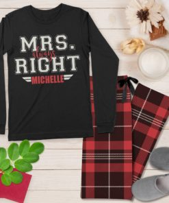 Mr. and Mrs. Always Right His and Her Personalized Pajama Set His and Hers Matching Coordinating PJ's by Personalize it FREE