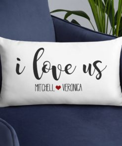 PIF-TP-10049-Valentine I Love Us Personalized Couples Throw Pillow Valentines Love Anniversary Gift