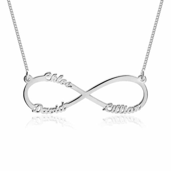 PIFON001543-A Infinity Names Sterling Silver Personalized Necklace by Personalize it FREE Mother's Day Valentine's Day Holiday Gift Idea