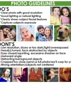 PhotoQualitySpecs for custom Photo Gifts by Personalize it FREE