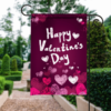 SGF-00100 Personalized Happy Valentine's Day Garden House Flag Banner Sign Ourdoor Yard Home Decor by Personallize it FREE