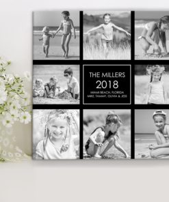 CAN00014-B&WCollage B&W Family Photo Collage Personalized Keepsake Canvas Wall Art by Personalize it FREE