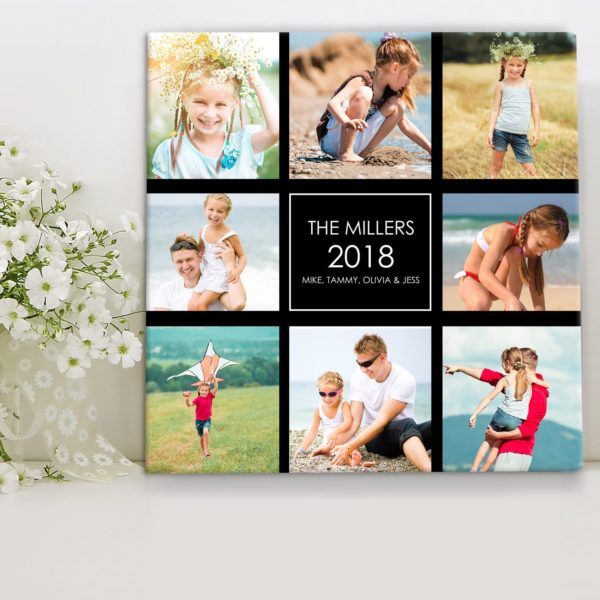 CAN00015-ColorCollage Family Photo Collage Personalized Keepsake Canvas Wall Art by Personalize it FREE